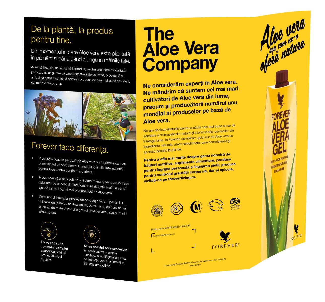 Set Flyere Bauturi Aloe Vera